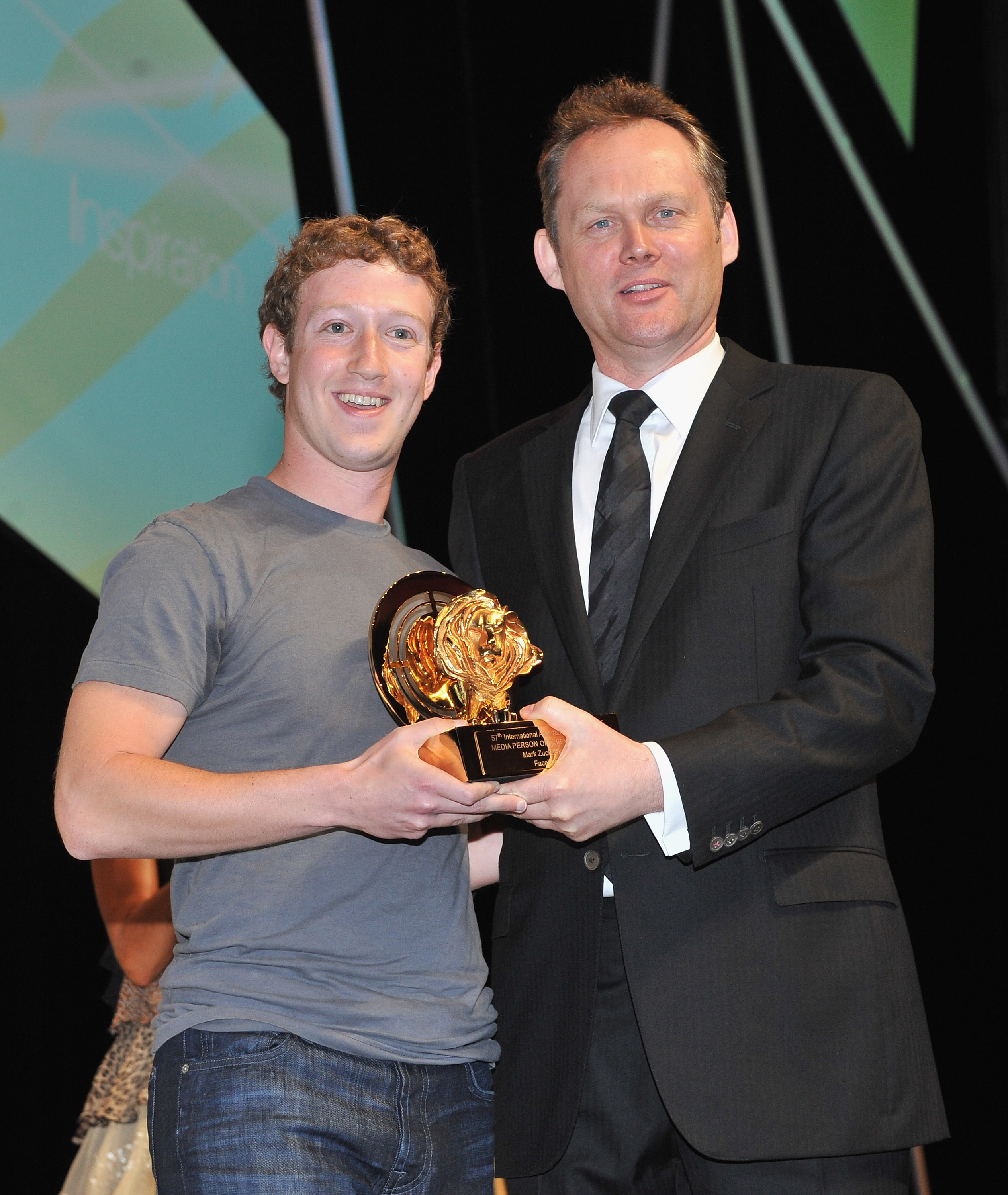 Facebook Mark Zuckerberg and Philip Thomas Phil Thomas CEO Cannes Lion