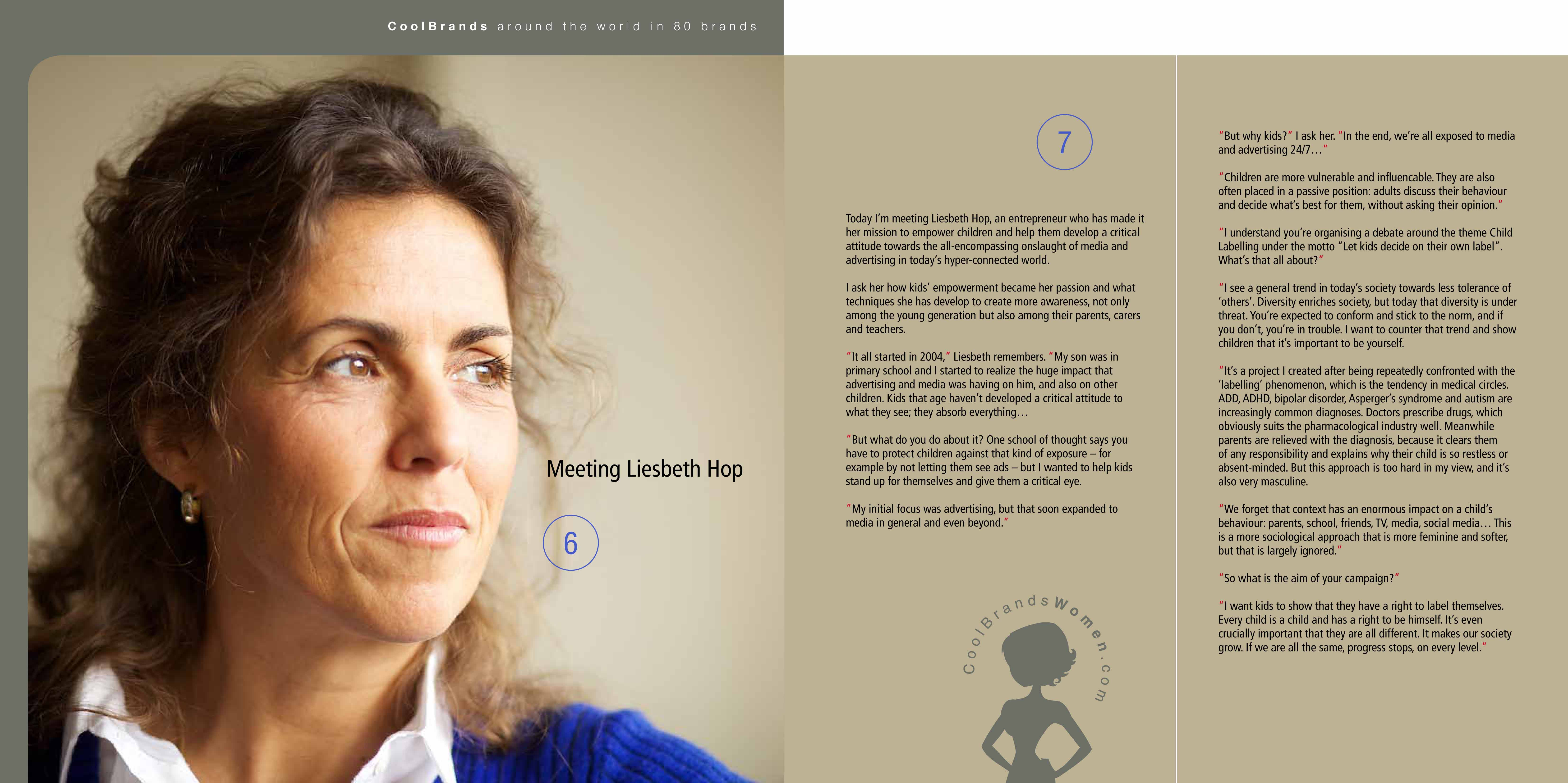 Liesbeth Hop for Around The World in 80 Brands